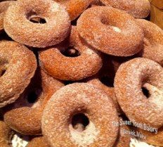 Hot Cider Donuts ~ Gluten Free * The Sweet Tooth Bakery ~ Maine    www.thesweetttoothbakery.com