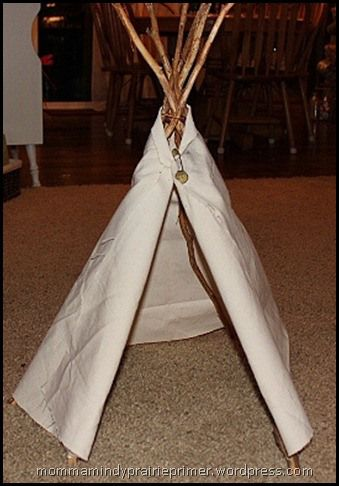 how to make a model teepee for school