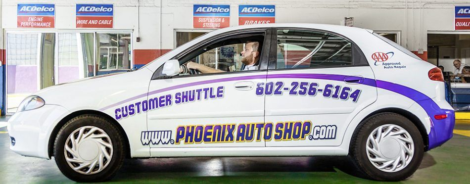Free Shuttle Service Is Always Available At  The Auto Shop 901 North Central Avenue Phoenix  Az