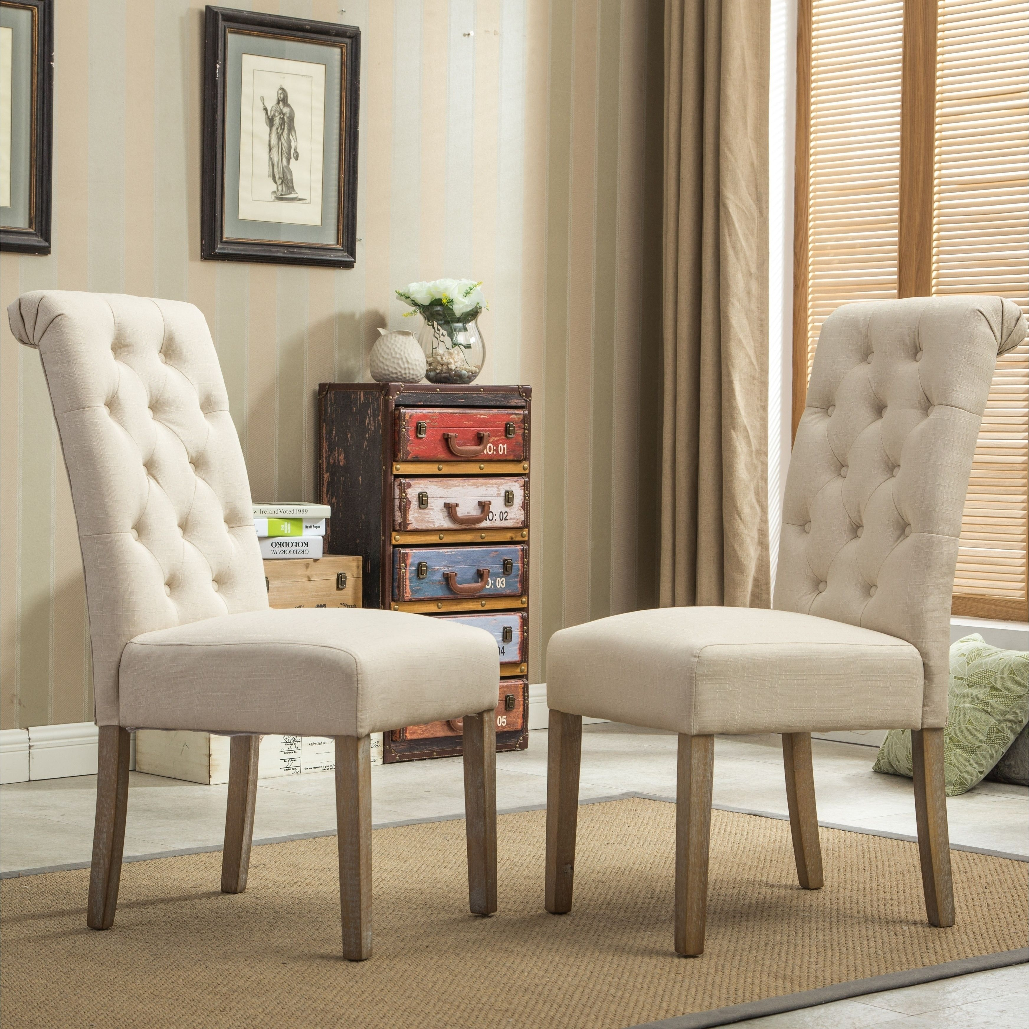 copper brown grove slader solid wood tufted parsons dining chairs rh pinterest com