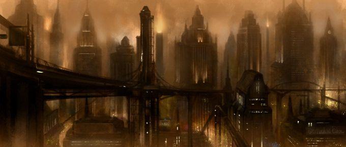 Batman Arkham City Concept Art Batman Concept Art City Art