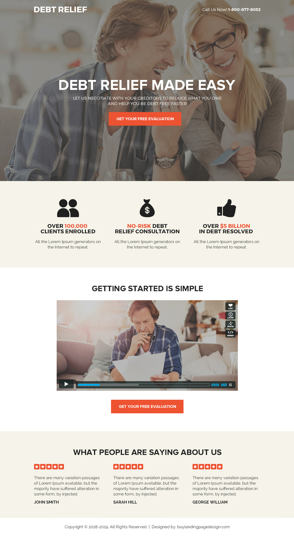 Download Debt Relief Solution Bootstrap Landing Page Design Debt Relief Landing Page Design Debt