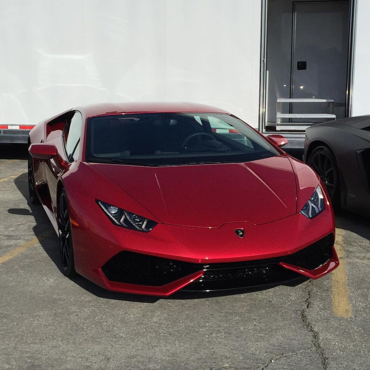 Lamborghini Huracan Painted In Rosso Efesto Photo Taken By: @brxmedia On  Instagram