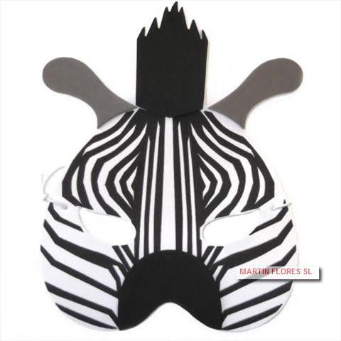 Caretas De Cebra Más En Www Martinfloressl Es Complementos Para Fiesta Y Carnaval En Sevilla Carnaval Animales Niños