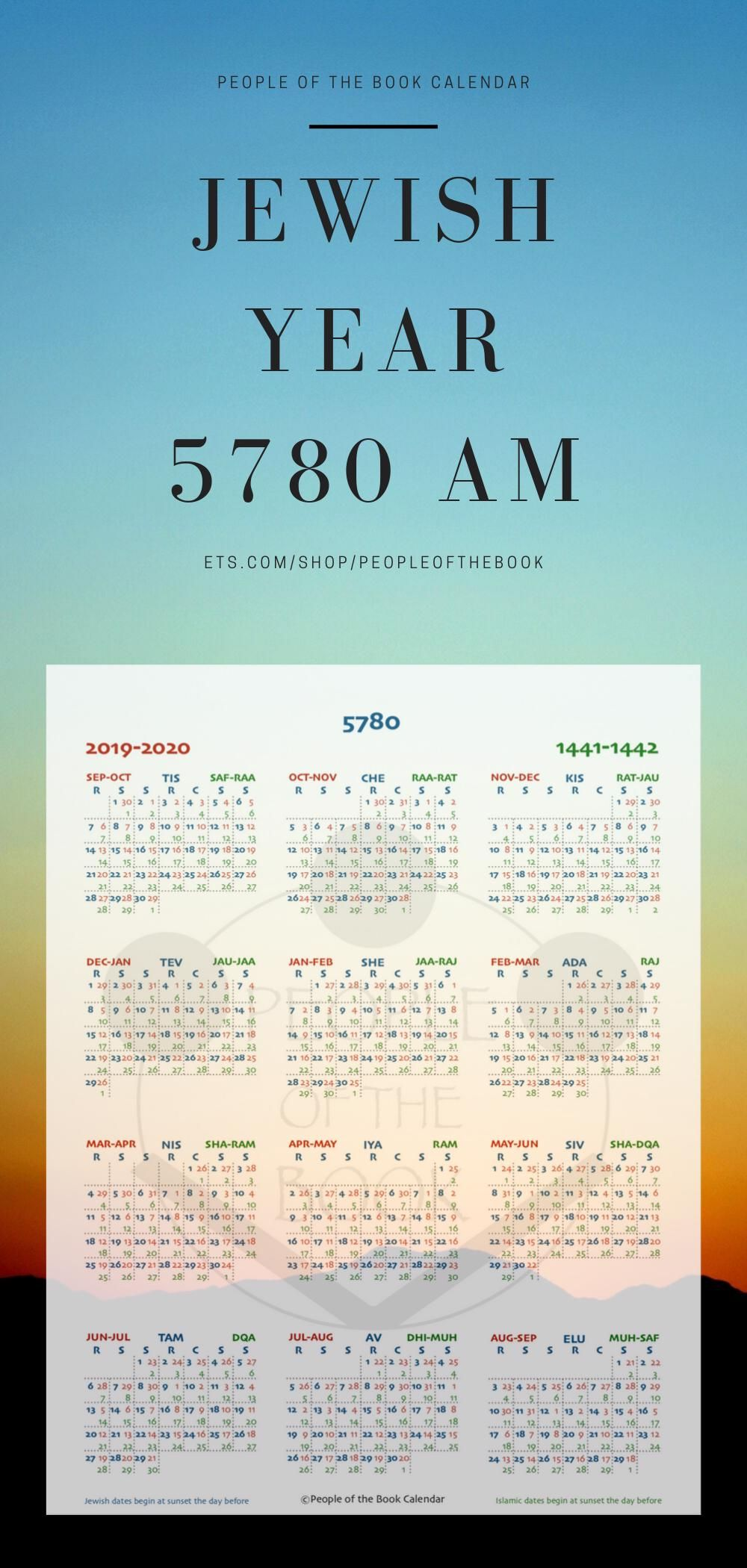 The Jewish Year 5780 Am Starts On 30 September 2019 1 Tishrei The People Of The Book Calendar Has Published A In 2020 Jewish Year Christian Calendar Positive Quotes