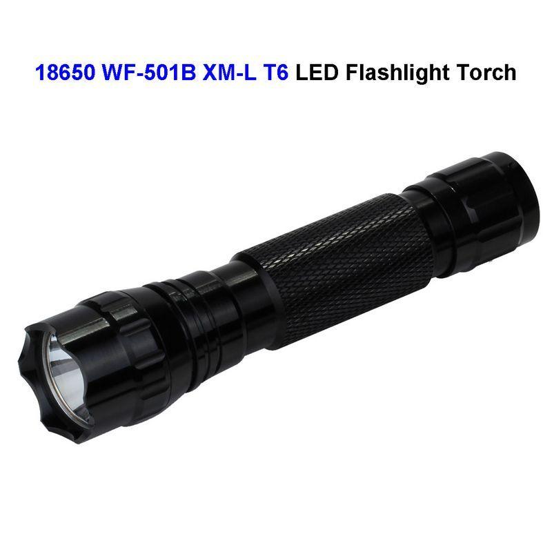 30 Sht Lot Wf 501b 18650 Svetodiodnyj Fonarik 1200 Lyumen Cree Xm L T6 Svetodiodnyj Vodonepronicaemyj Velosiped Led Flashlight Portable Light Tactical Torches