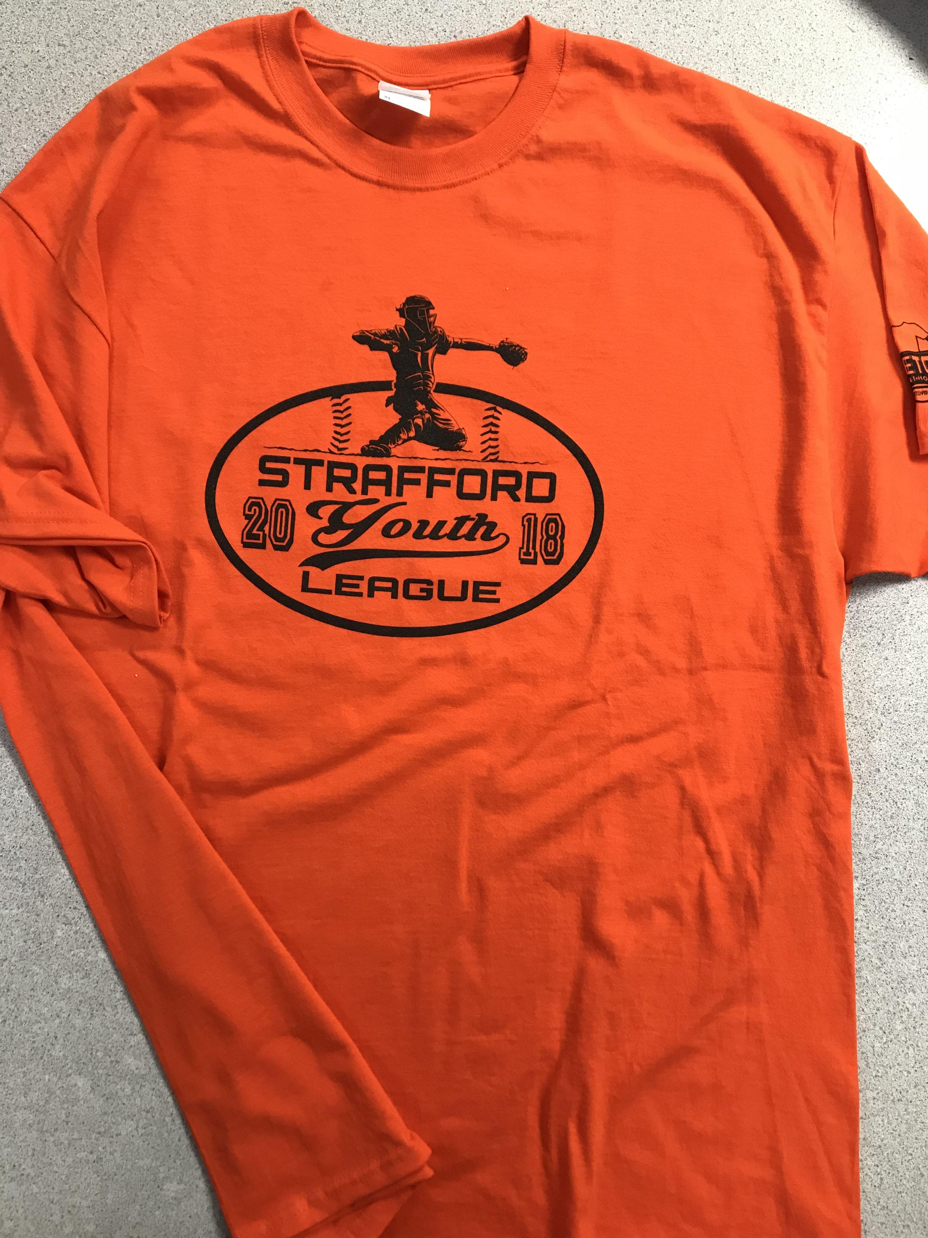 Strafford Youth Baseball Printed Shirts Long Sleeve Tshirt Men Shirt Designs