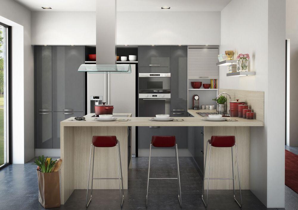 cuisine hygena mod le city graphite brillant hygena. Black Bedroom Furniture Sets. Home Design Ideas