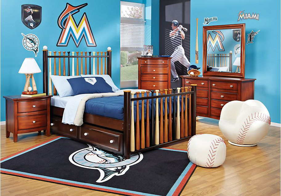 product | baseball bedroom, boys bedroom decor, cherry