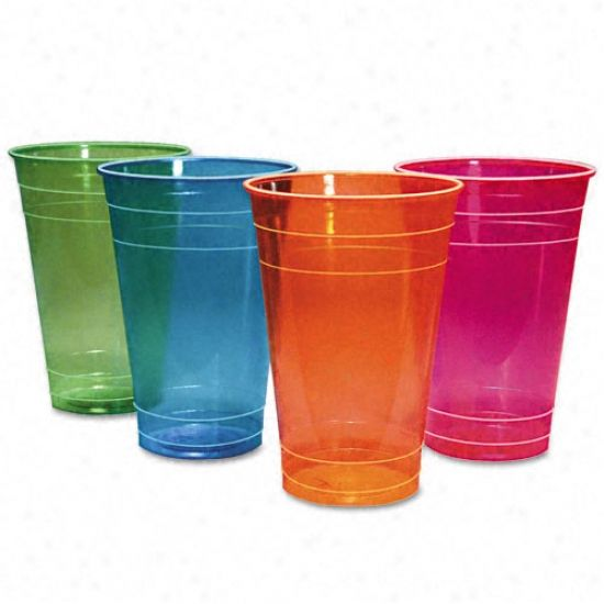 hefty clear colors disposable drink cups | Boardwalk 16oz ...