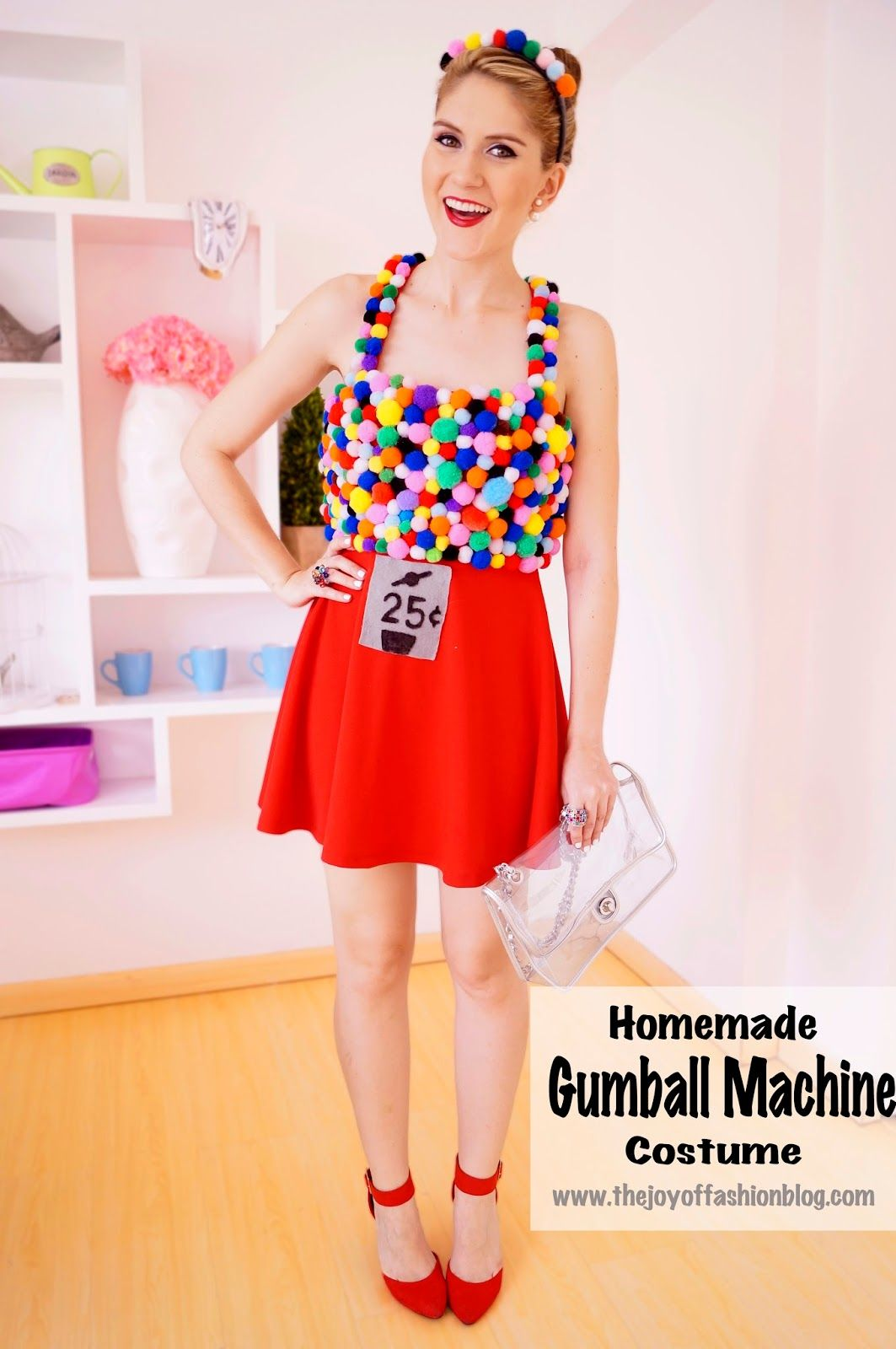 DIY Gumball Machine Costume -- Click through for step by step ...