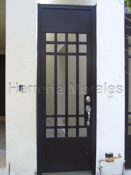 Puertas entrada principal con cristal y reja buscar con for Puertas de herreria para casa