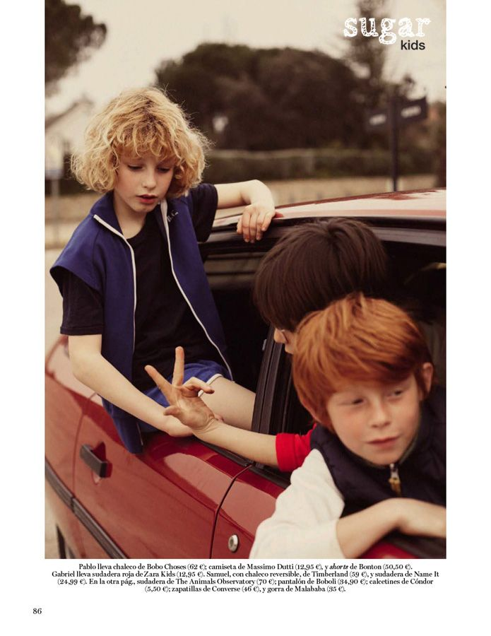 Pablo, Gabriel & Samuel from Sugar Kids for Vogue Niños by Melanie Rodriguez.