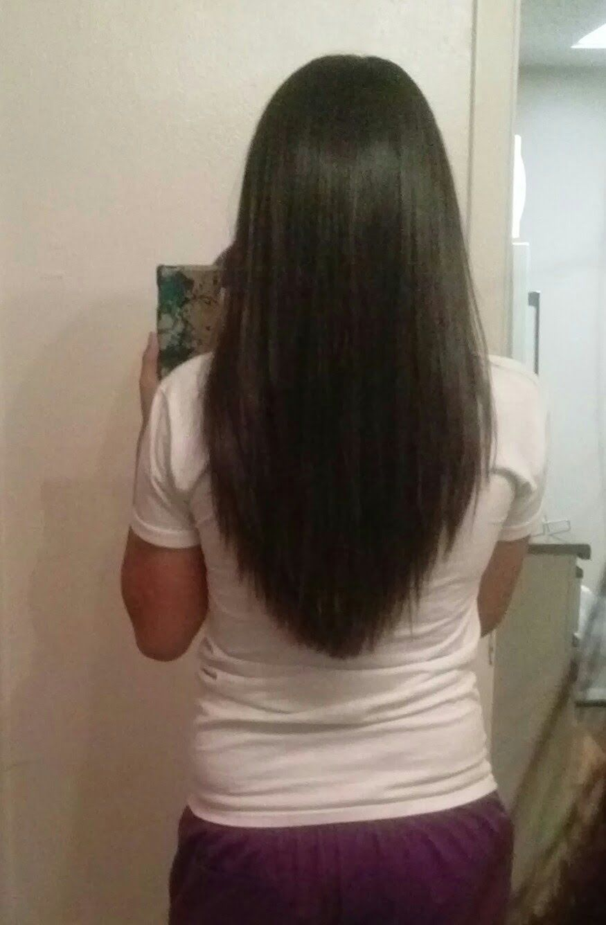 How To Cut Your Hair Home Length And Layers Hair