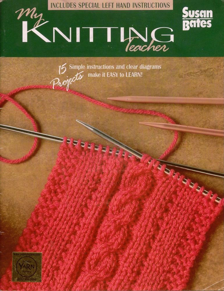Susan Bates 17380 My Knitting Teacher 15 Beginner Knitting Patterns Sweater 1987 #SusanBates #BeginnerKnittingPatterns