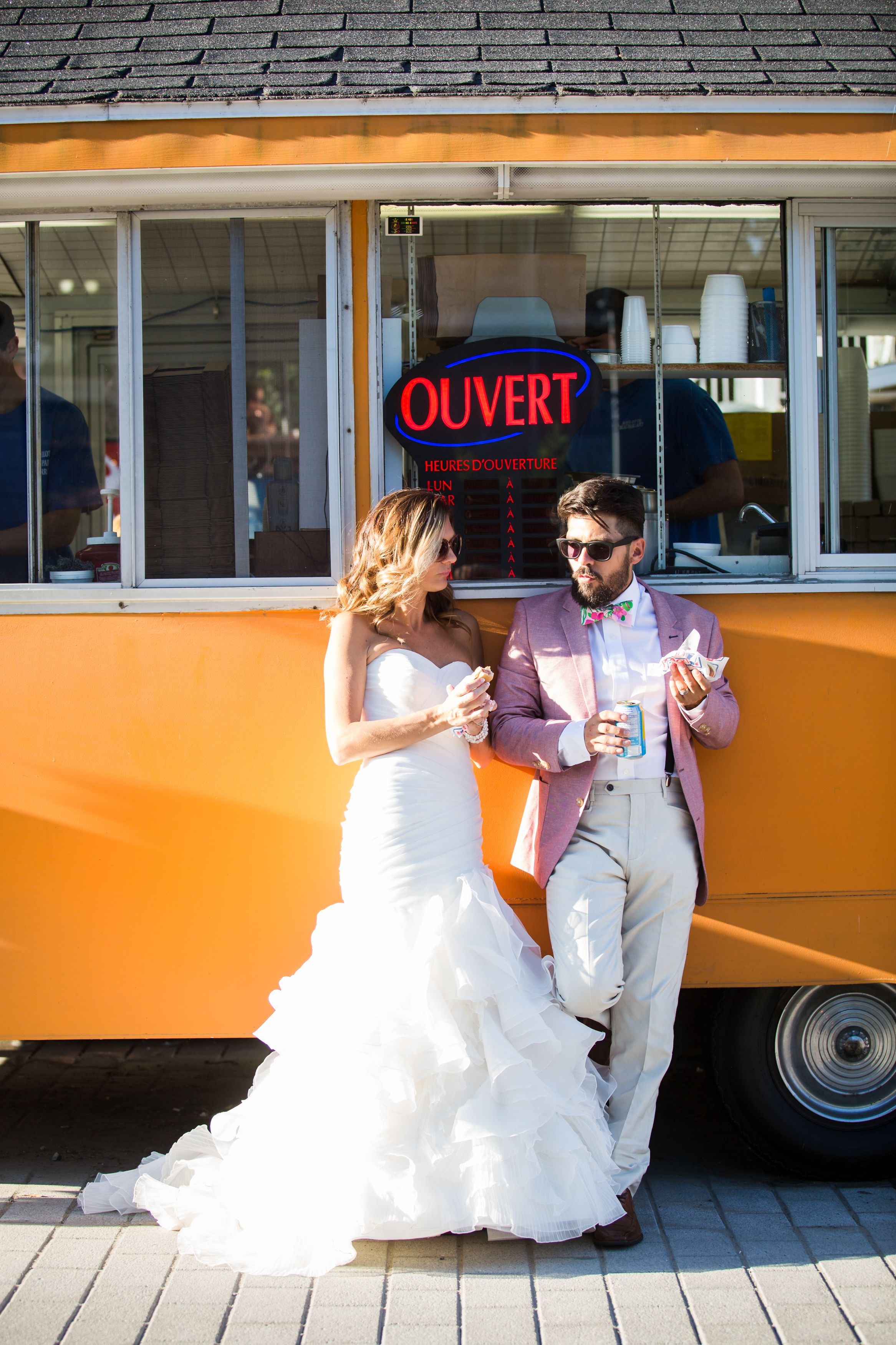 Picture we took next to a truck who sales french fries wedding