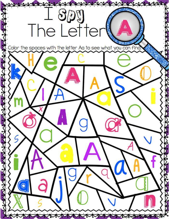 Alphabet I Spy NoPrep Printables & Centers Alphabet