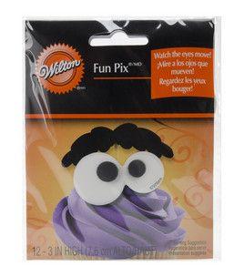 Wilton Fun Pix 10/Pk-Eyeballs & Eyebrow: seasonal bakeware & supplies: baking: Shop | Joann.com