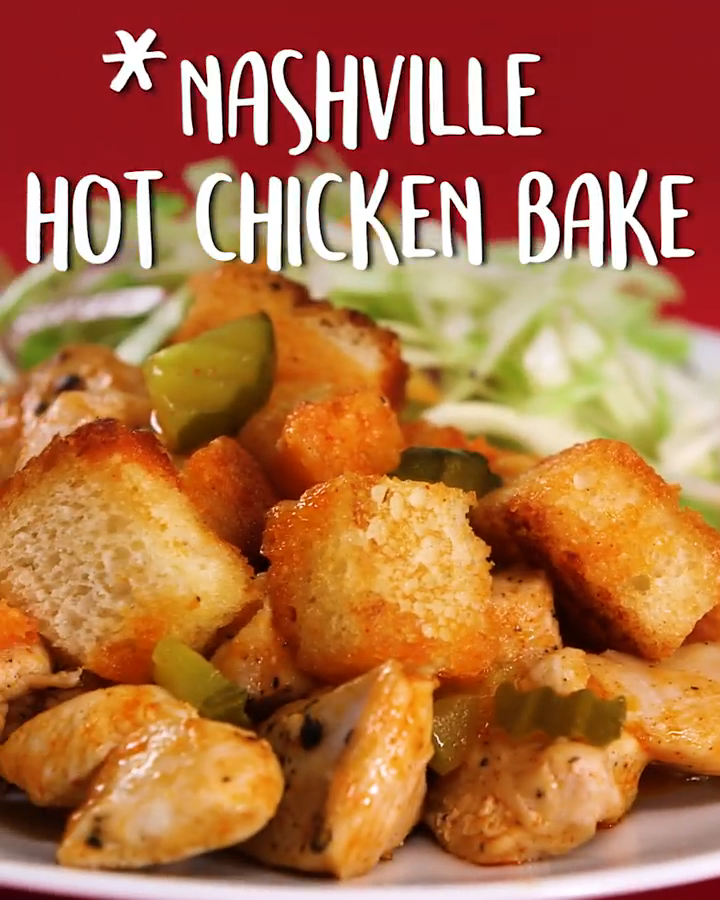 #Nashville Hot #Chicken Bake #chickenbreastrecipeseasy