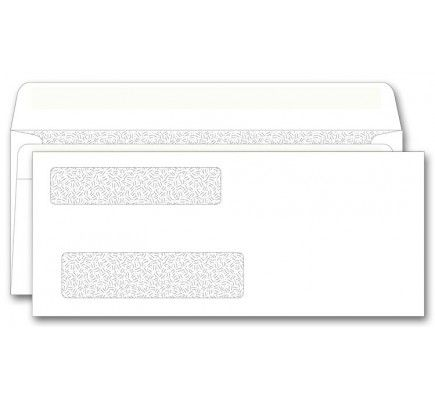 Double Window Check Envelopes Self Seal 8 5 8 X 3 5 8 Free Shipping Business Envelopes Double Window Window Envelopes