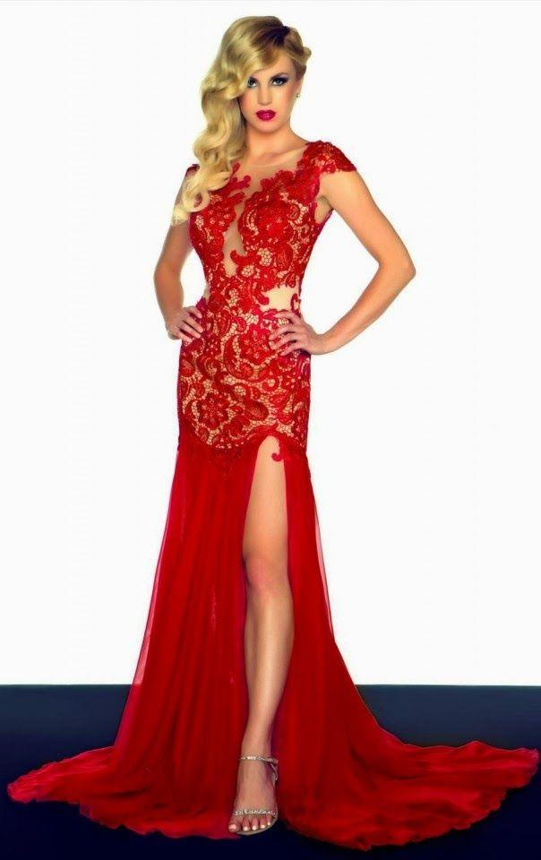 d18a2a5cb Hermosos vestidos de fiesta de color rojo