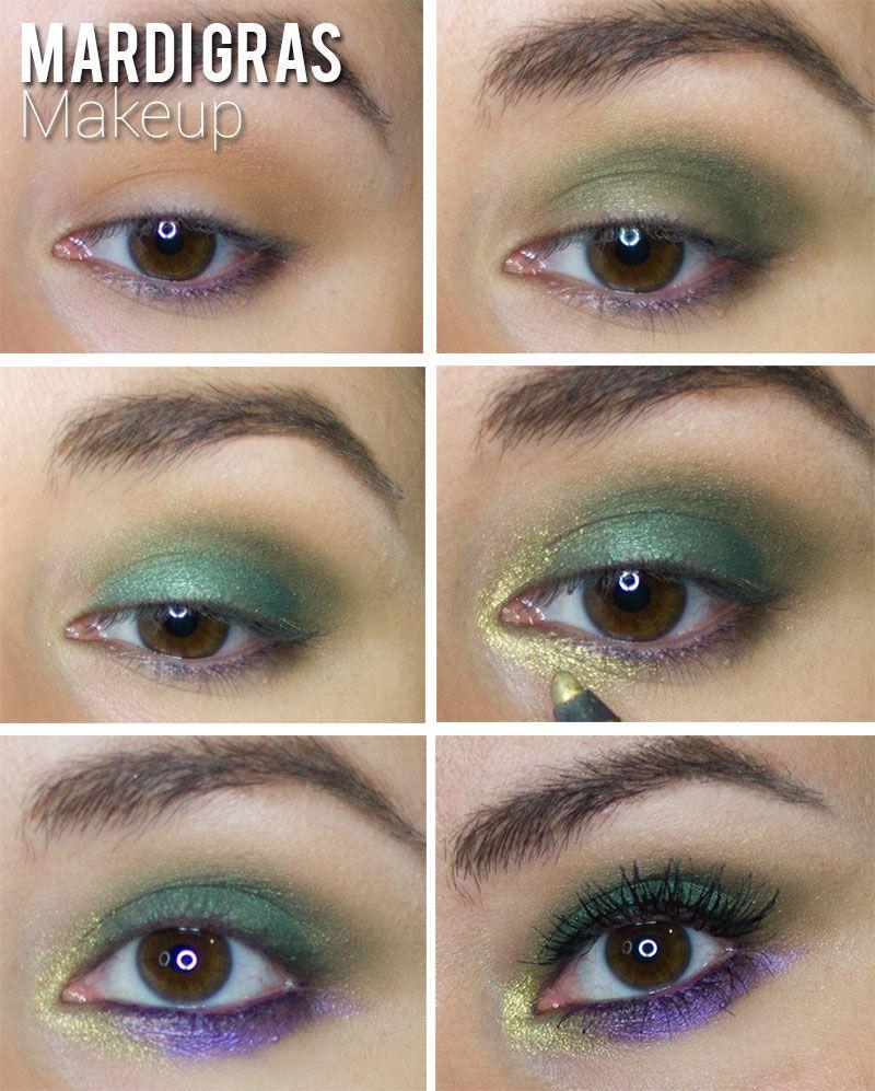 Peanuts Kiss And Makeup: Mardi Gras Makeup Look
