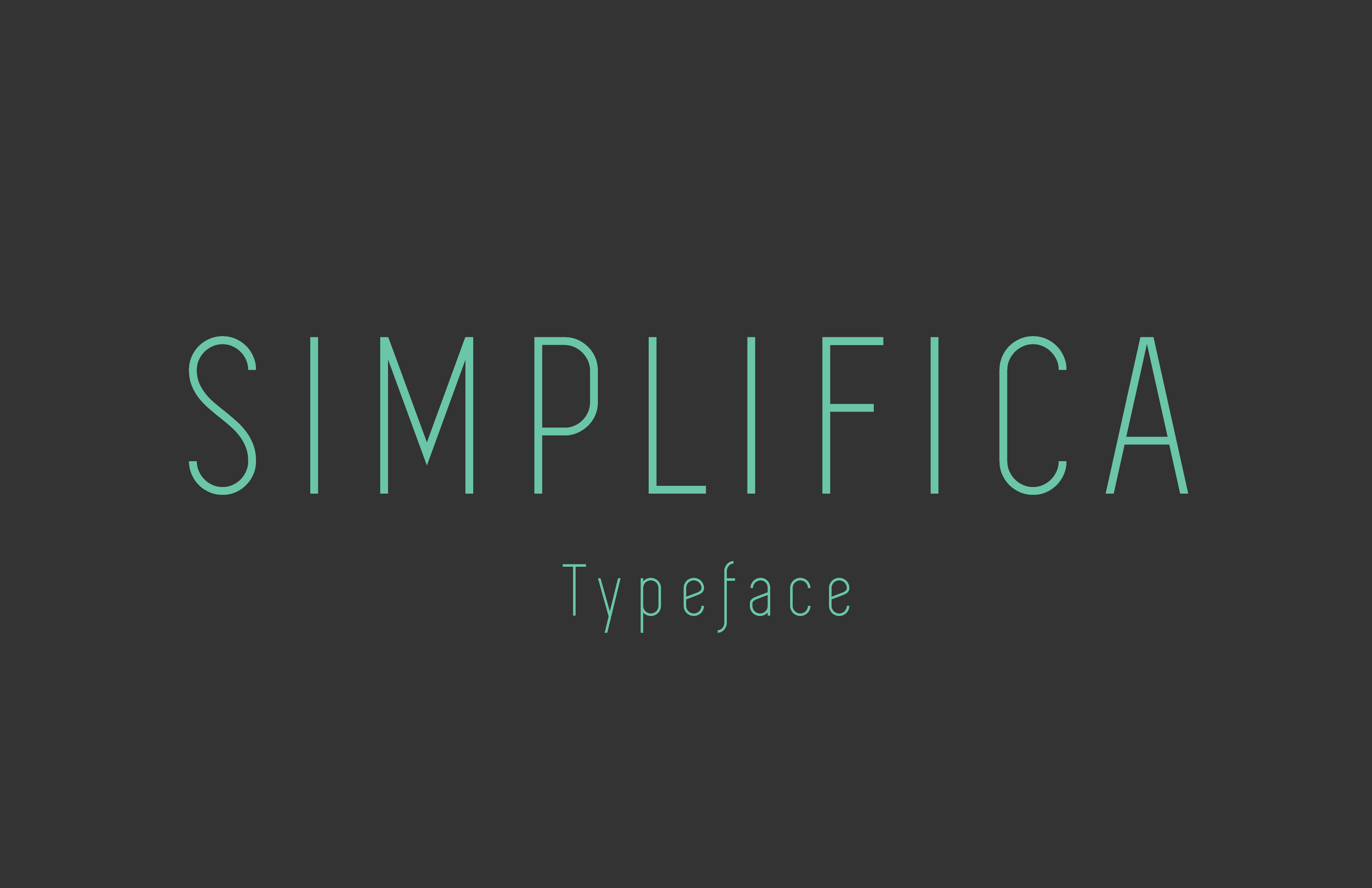 SIMPLIFICA Typeface is a slightly condensed sans-serif typeface featured by an uniform and thin line width. Its high positioned capsheight and ascender favours legibility. A fine, simple and clear font.