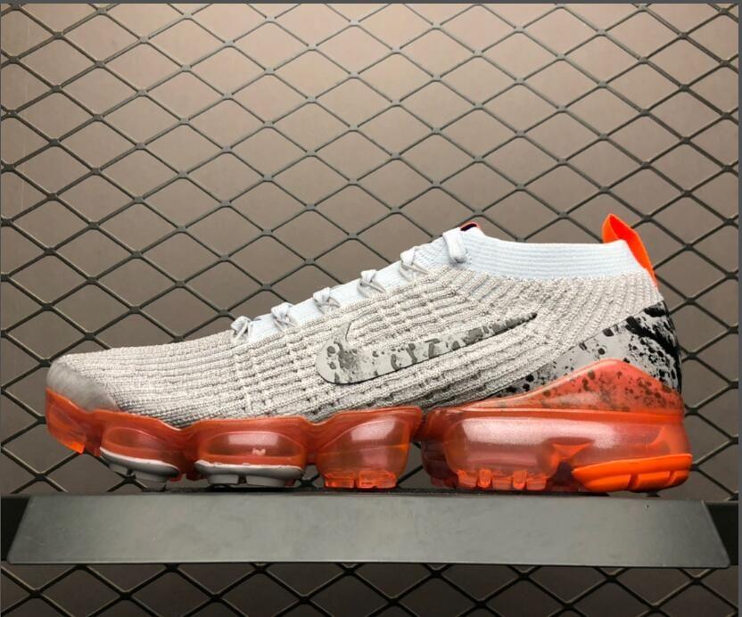 d44206d3dbb8 2019 Nike Air VaporMax Flyknit 3.0 Grey Orange Men s Size AJ6900-106 ...