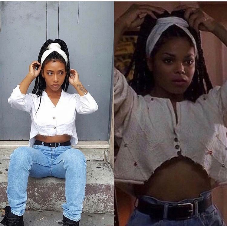 Black Girl Outfit Ideas: Janet Jackson Poetic Justice Halloween Costume