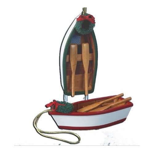 Found it at Wayfair - 2 Piece Row Boat Ornament Set