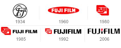 Fuji Film Advertising Logo Logo Evolution Logo Redesign