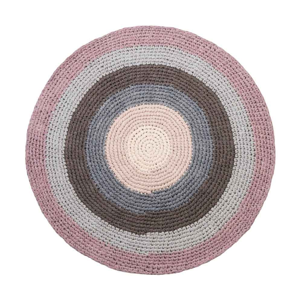 Sebra Hkel Teppich Pastell Lila Rund