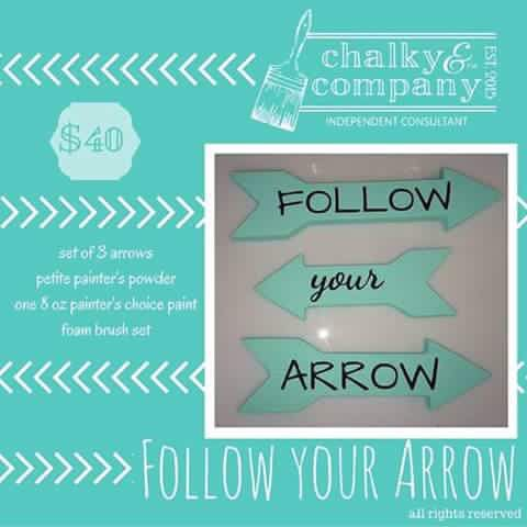 Follow YOUR Arrow  and #findyourmuse  #ChalkItUp  #PaintItChalky