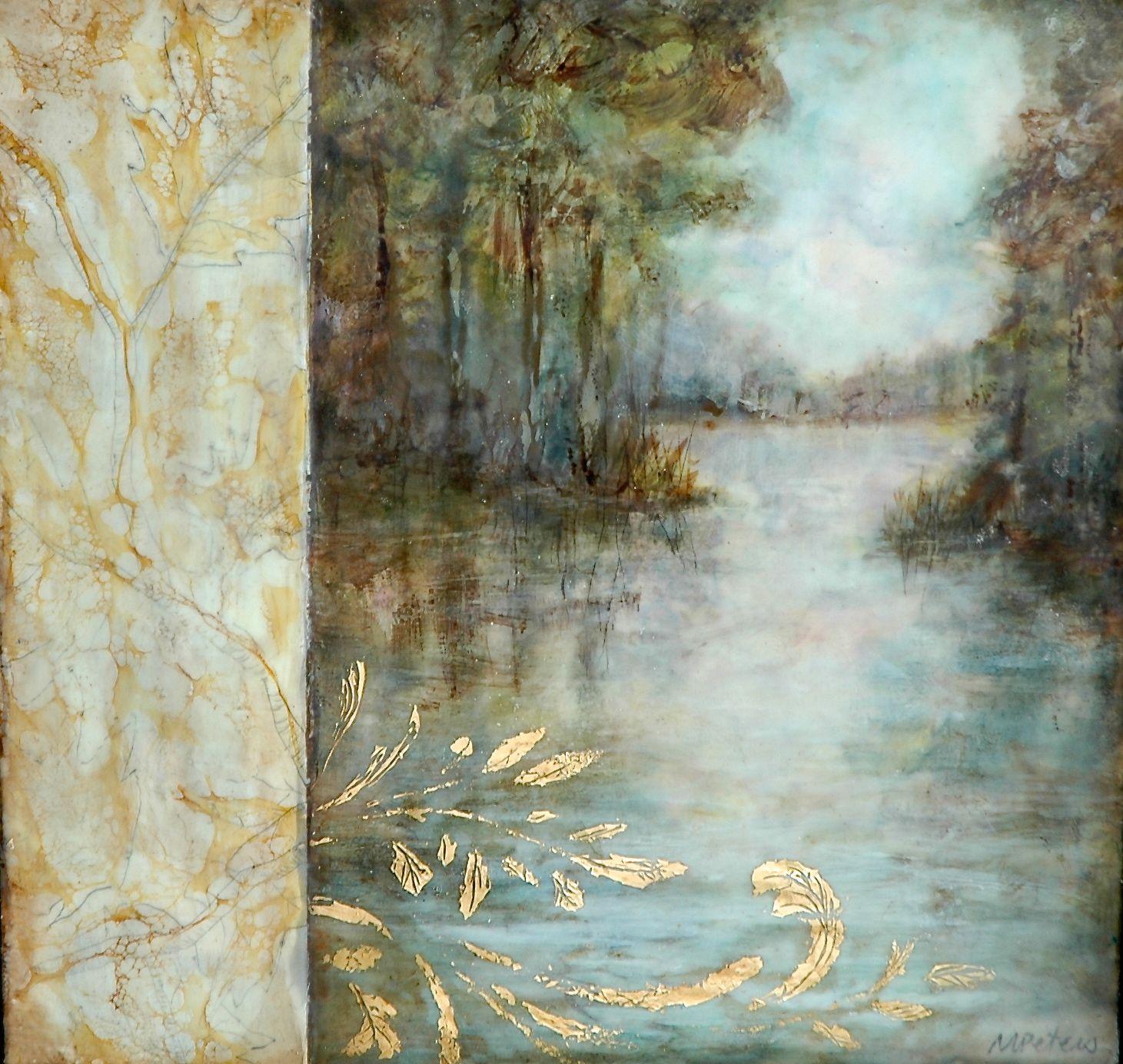 Watercolor artists websites -  Flourish Michaelle Peters Charlwood Michaellepc Com Encaustic Oil Mixed Artists Websitesencaustic