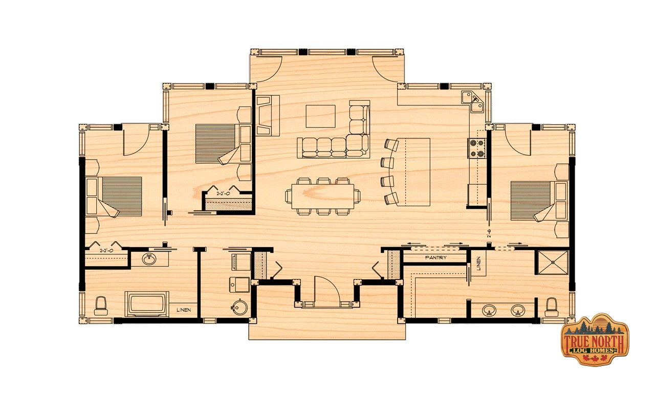 The Lakeview True North Log Homes Luxury Log Home Living Log Home Floor Plans Lake View House Plans Floor Plans