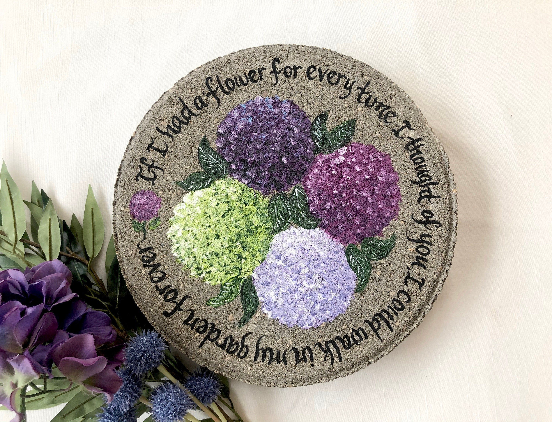 Hydrangea sympathy gifts for women memorial garden stone