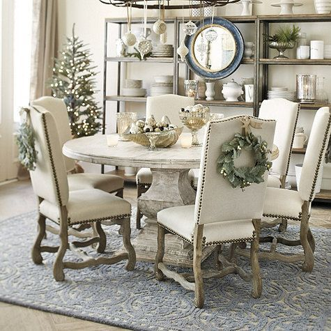 Set of 2 Capistrano Dining Chairs   Ballard Designs is part of Dining room makeover - Pretty carved scrolled legs and high camel back give our Capistrano Dining Chair the quiet elegance of a Spanish mission antique  Shop Ballard Designs today!