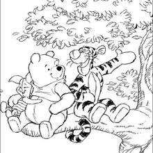 Winnie\'s friends: Tigger and Piglet - Coloring page - DISNEY ...