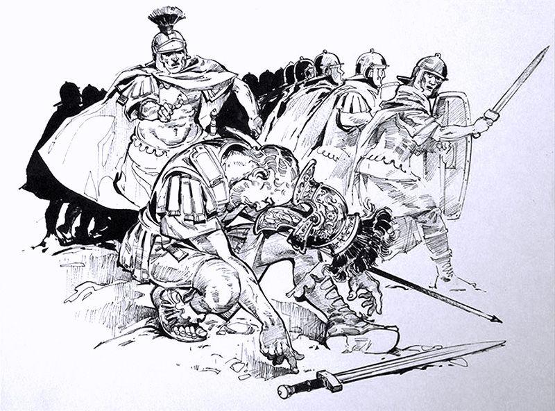 """Death of a Roman Centurion"" Angus McBride"