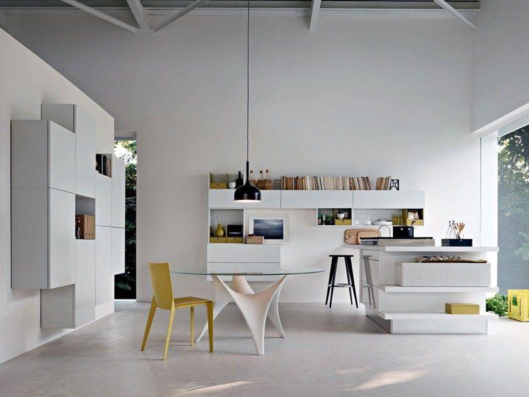 Mueble modular de pared composable montaje pared con soporte para tv