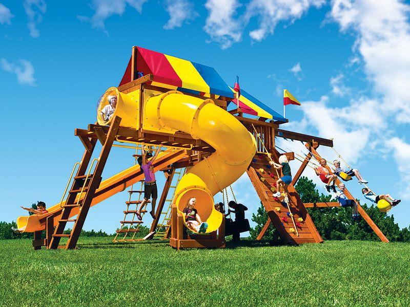 Swing Sets Rainbow Swing Set Superstores Of Minnesota Backyard