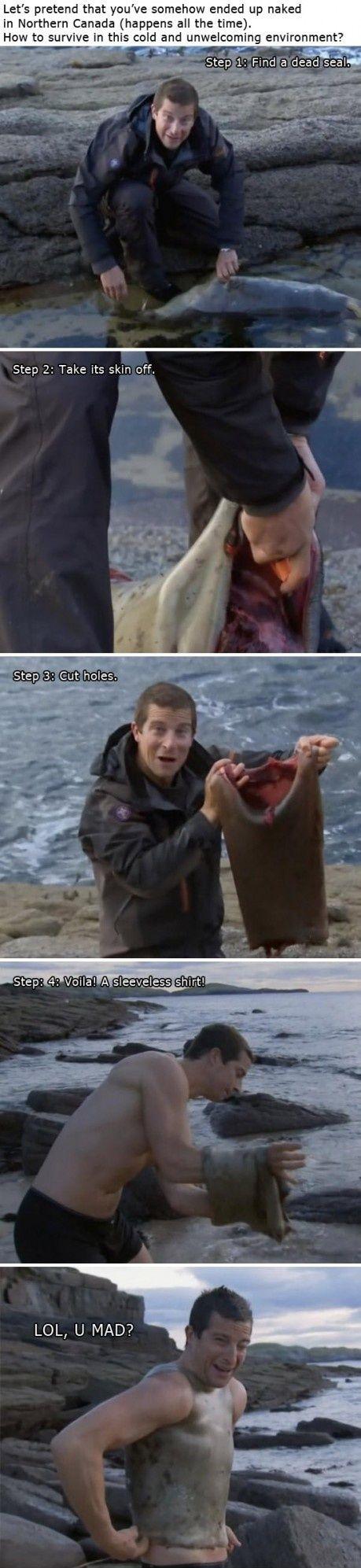Survival lektion fra Bear Grylls