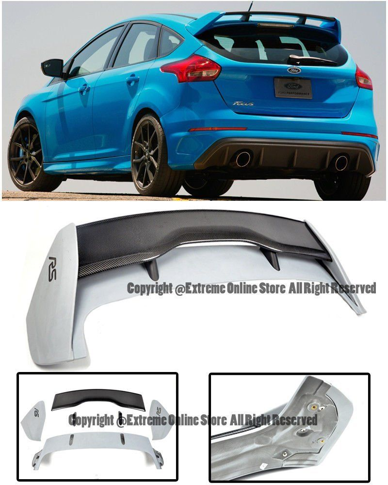 For 13 Up Ford Focus 5dr Hatchback Rs Style Carbon Fiber Rear Roof