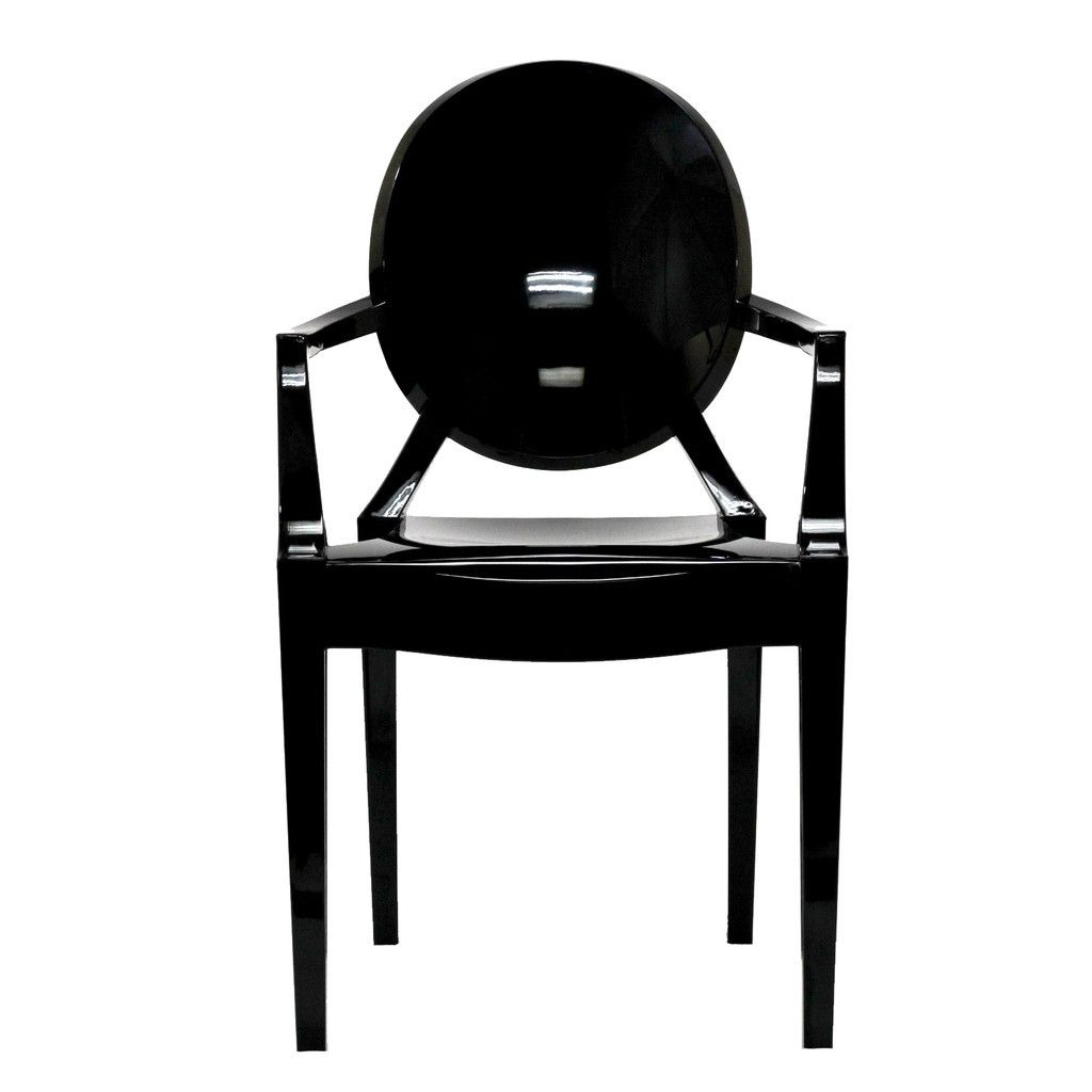 philippe starck style louis ghost arm chair black philippe starck. Black Bedroom Furniture Sets. Home Design Ideas