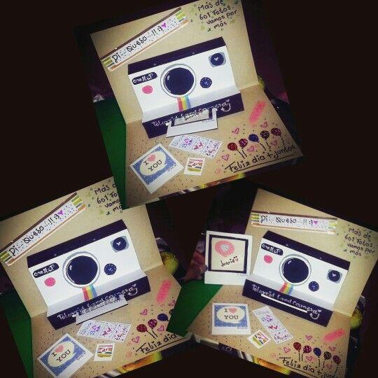 tarjeta pin~up cámara fotográfica retro ♡ #paraminovio ♡