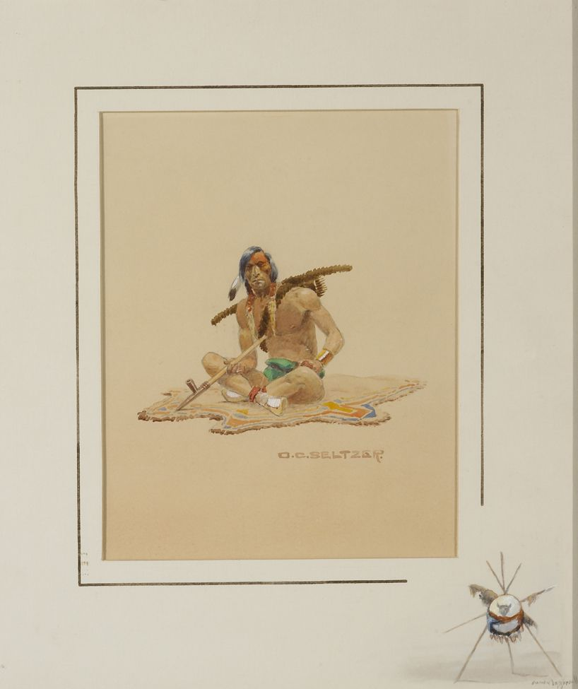 Seltzer Olaf C Indian Brave With Peace Pipe 1307 | Art History ...