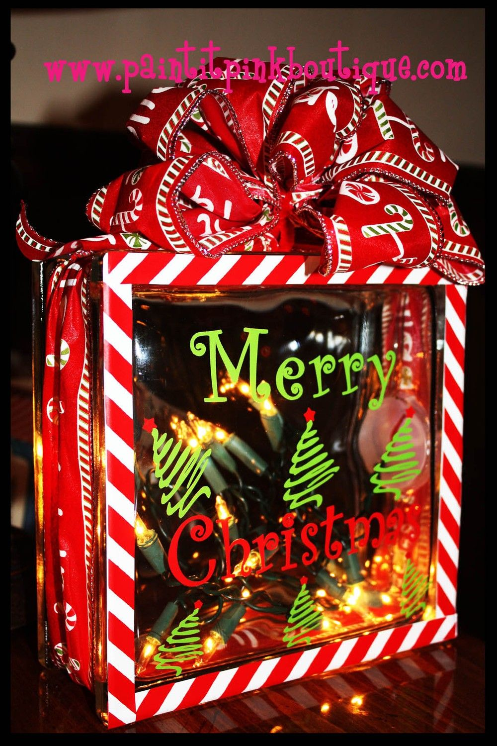 Marvelous Glass Block Craft Ideas For Christmas Part - 6: Christmas Glass Blocks With Lights - Bing Images