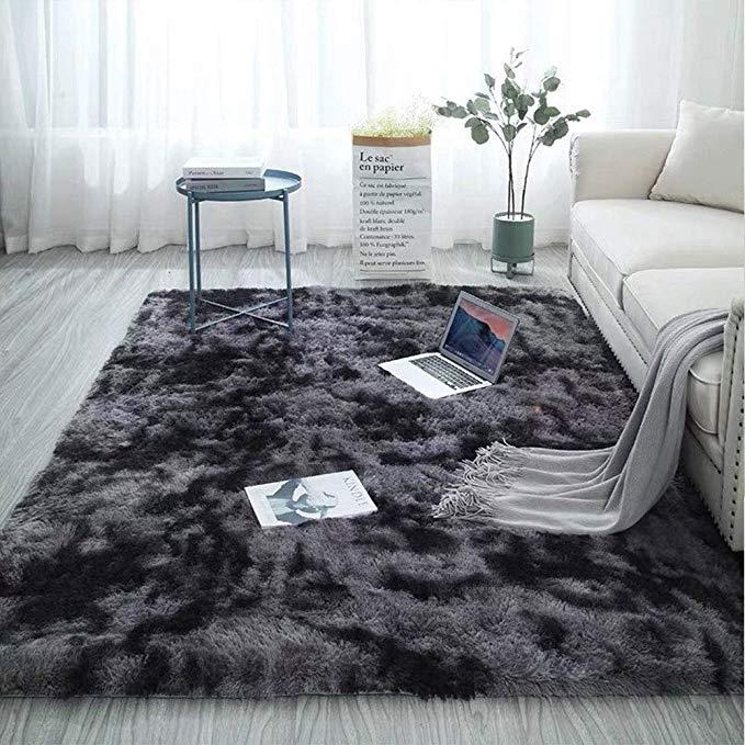 Mladen Soft Fluffy Area Rugs Motley Plush Carpets Thick Shaggy Floor Mat Living Room Bedroom Rugs In Living Room Living Room Area Rugs Bedroom Carpet