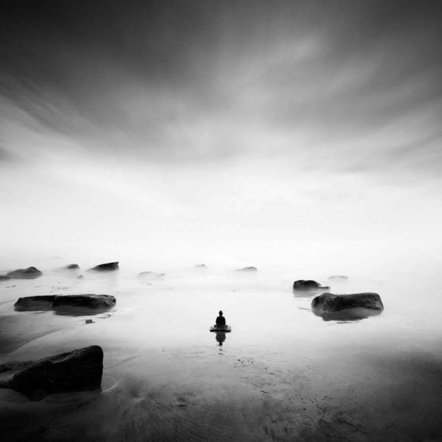 Buddha zen black and white photography fubiz media