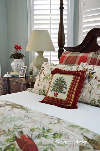 surprising christmas bedroom decorations ideas | Christmas 2013 Master Bedroom by shirleystankus, via ...